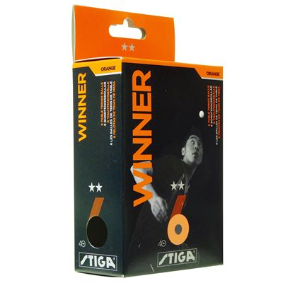 Stiga 2 Star Winner Table Tennis Balls - Pack of 6 - Orange