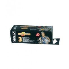 Stiga 3 Star Pro Table Tennis Balls - Pack of 3