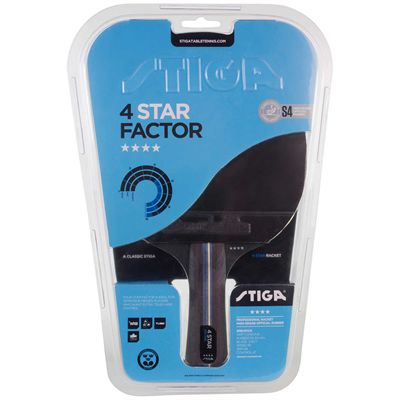 Stiga 4 Star Factor Table Tennis Bat