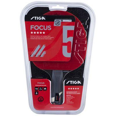 Stiga 5 Star Focus Table Tennis Bat - Package
