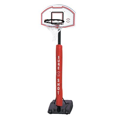 Sure Shot 514 Portable Telescopic Basketball Unit with Pole Padding