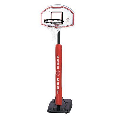 Sure Shot 514 Portable Telescopic Basketball Unit with Pole Padding
