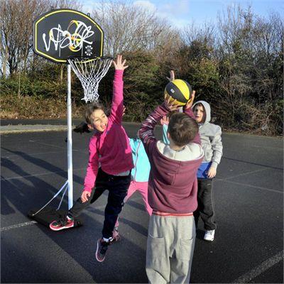 Sure Shot Walk Junior Basketball Unit - In Use1