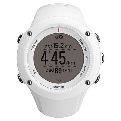 Suunto Ambit2 R Heart Rate Monitor - White - Front Running Positive