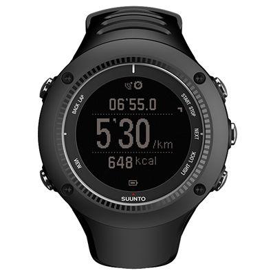 Suunto Ambit2 R Sports Watch - Black - Front Chrono Negative