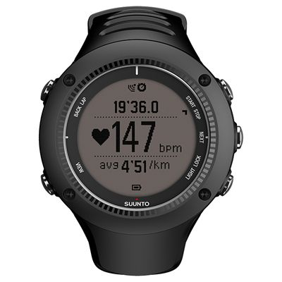 Suunto Ambit2 R Sports Watch - Black - Front Chrono Positive