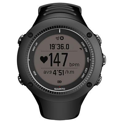Suunto Ambit2 R Sports Watch - Black - Front Chrono Positive