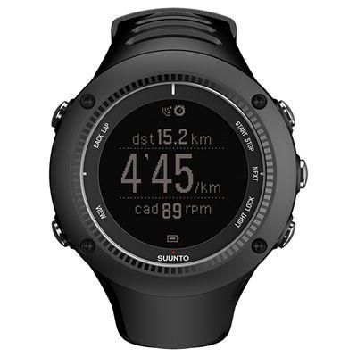 Suunto Ambit2 R Sports Watch - Black - Front Running Negative
