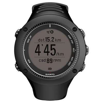 Suunto Ambit2 R Sports Watch - Black - Front Running Positive