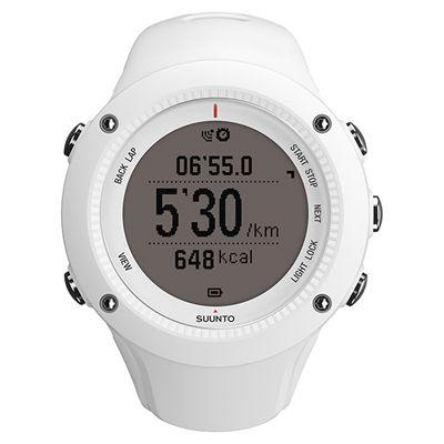 Suunto Ambit2 R Sports Watch - White - Front Chrono Negative
