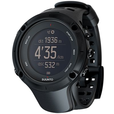 Suunto Ambit3 Peak Black Heart Rate Monitor Angle View Image