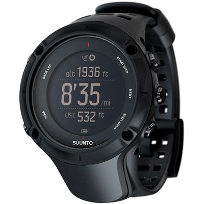 Suunto Ambit3 Peak Black Sports Watch Perspective Image