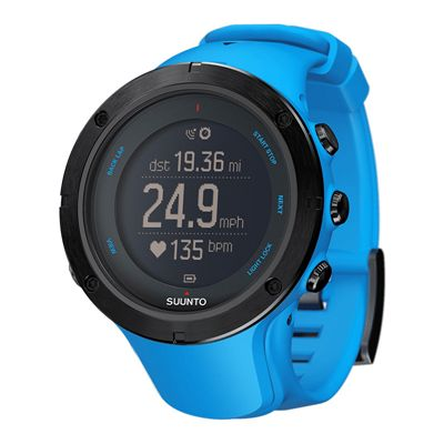 Suunto Ambit3 Peak Heart Rate Monitor-Blue-Angle View