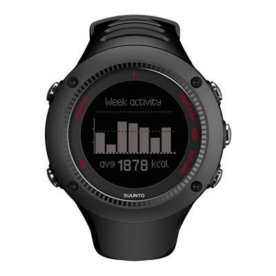 Suunto Ambit3 Run Heart Rate Monitor - Black - Front View 2