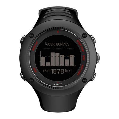 Suunto Ambit3 Run Heart Rate Monitor - Black - Front View 2