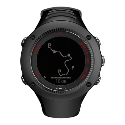 Suunto Ambit3 Run Heart Rate Monitor - Black - Front View 4