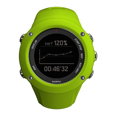 Suunto Ambit3 Run Heart Rate Monitor - Lime - Front View 2