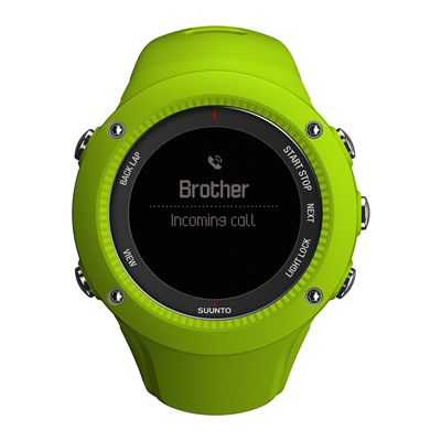 Suunto Ambit3 Run Heart Rate Monitor - Lime - Front View 4