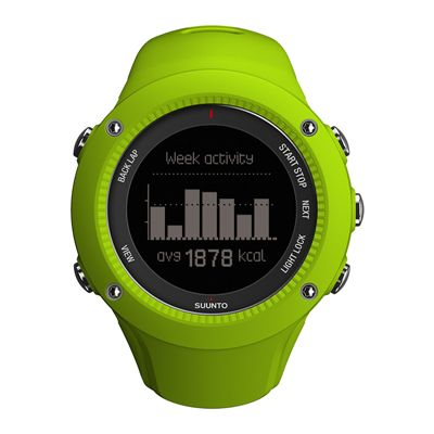 Suunto Ambit3 Run Heart Rate Monitor - Lime - Front View 7