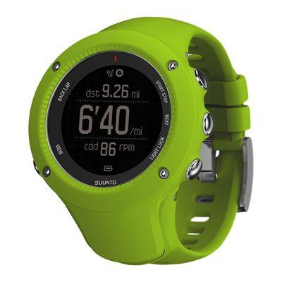 Suunto Ambit3 Run Heart Rate Monitor - Lime - Profile View