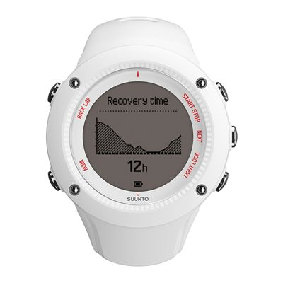Suunto Ambit3 Run Heart Rate Monitor - White - Front View 1