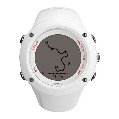 Suunto Ambit3 Run Heart Rate Monitor - White - Front View 2