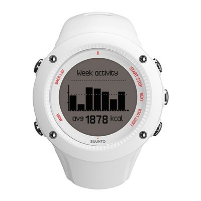 Suunto Ambit3 Run Heart Rate Monitor - White - Front View 3