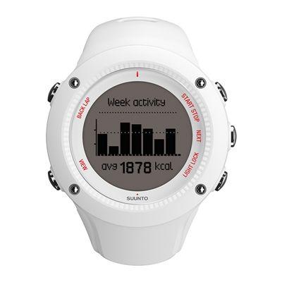 Suunto Ambit3 Run Heart Rate Monitor - White - Front View 3
