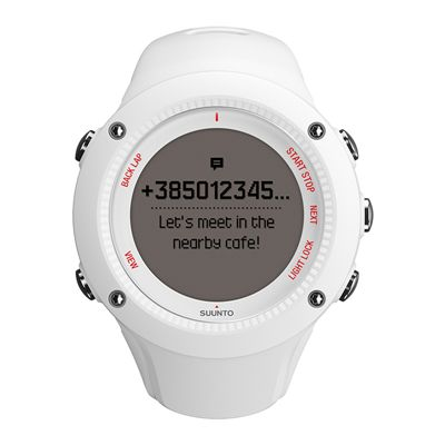 Suunto Ambit3 Run Heart Rate Monitor - White - Front View