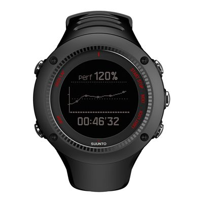 Suunto Ambit3 Run Sports Watch - Black - Front View 2