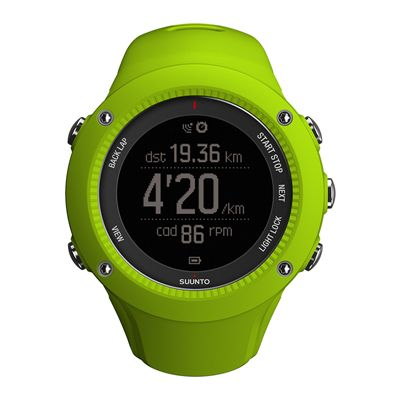Suunto Ambit3 Run Sports Watch - Lime - Front View 3