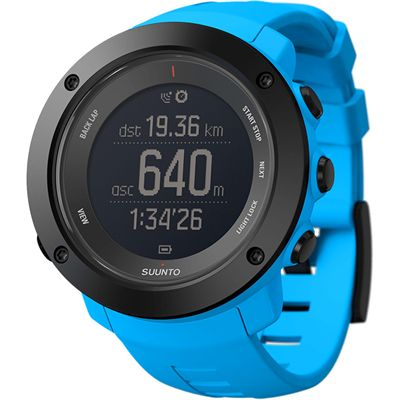 Suunto Ambit3 Vertical Heart Rate Monitor-Blue-Angled