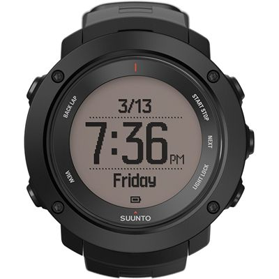 Suunto Ambit3 Vertical Sports Watch-Black-Time