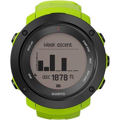 Suunto Ambit3 Vertical Sports Watch-Green-Week ascent