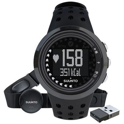 Suunto M5 Mens Heart Rate Monitor - All Black