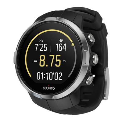 Suunto Spartan Sport Heart Rate Monitor-Black-Angled