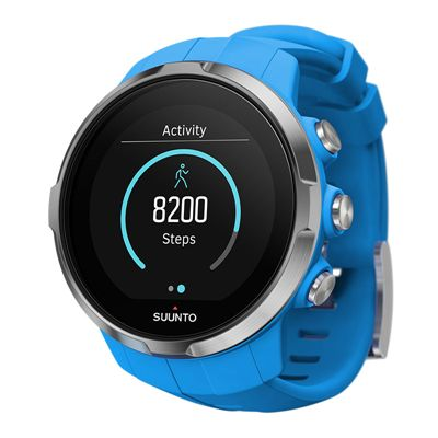 Suunto Spartan Sport Heart Rate Monitor-Blue-Angled