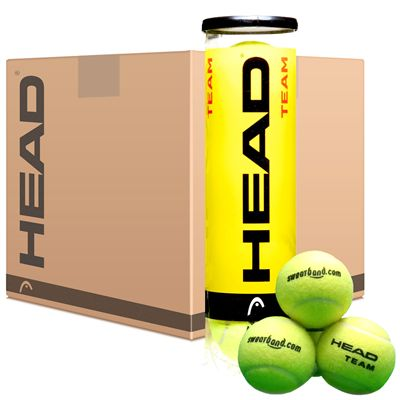 Sweatband.com Head Team Tennis Balls Box 12 dozen