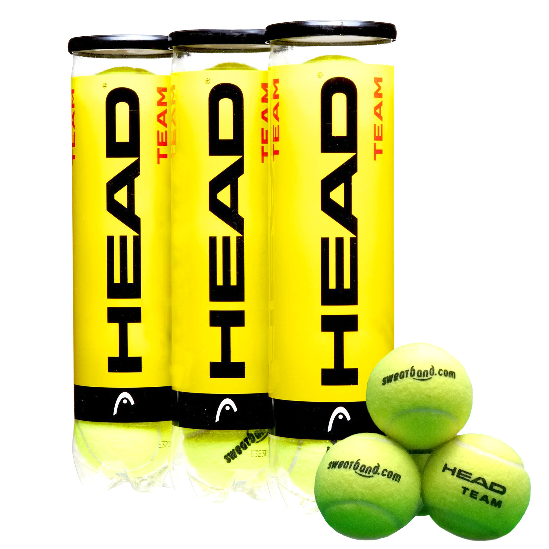 Sweatband.com Head Team Tennis Balls (1 dozen)
