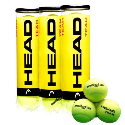 Sweatband.com Head Team Tennis Balls 1 Dozen