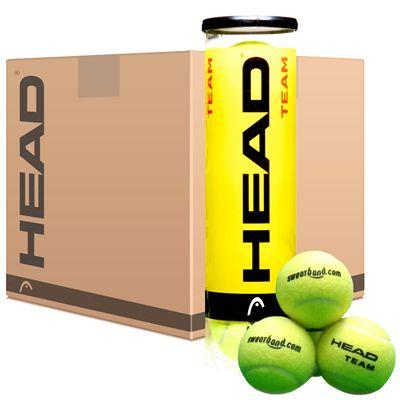 Sweatband.com Head Team Tennis Balls Box 6 dozen
