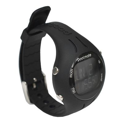 Swimovate PoolMate2 Swim Sports Watch Black Angle View