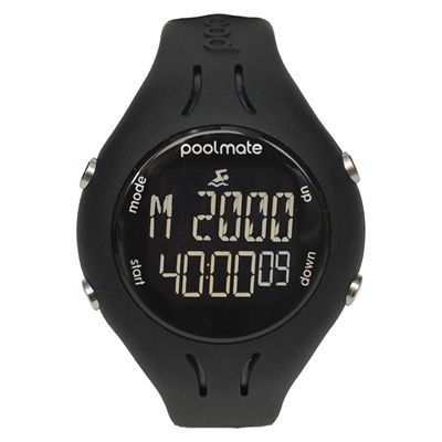 Swimovate PoolMate2 Swim Sports Watch Black Front View Image