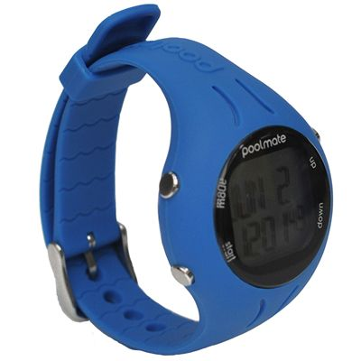 Swimovate PoolMate2 Swim Sports Watch Blue Angle View