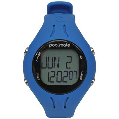 Swimovate PoolMate2 Swim Sports Watch Blue Front View