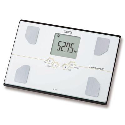 Tanita BC-313 Glass Body Composition Monitor - Angle
