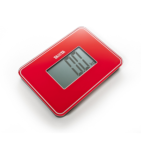 Tanita HD386 Super Compact Digital Scale  Red