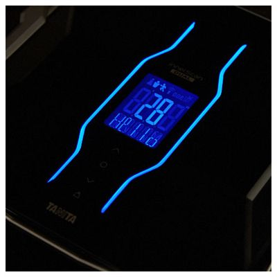 Tanita Body Composition Monitor with Integrated Bluetooth-Black-Backlight Image