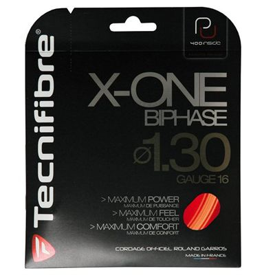 Tecnifibre X-One Biphase 1.30 Tennis String Set Red