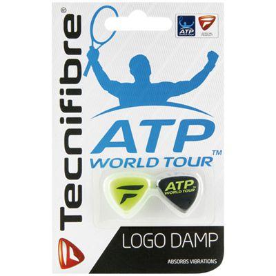Tecnifibre ATP Logo Damp Dampener-Black-Green-Pack of 2